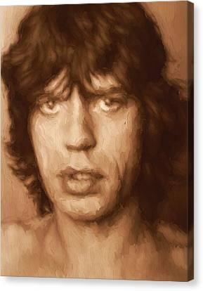 Mick Jagger Poster Canvas Print featuring the painting Mick by Dan Sproul
