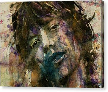Mick Jagger @ Gimmie Shelter  Canvas Print by Paul Lovering