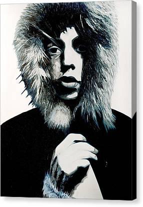Mick Jagger - Rolling Stones Canvas Print by Jocelyn Passeron