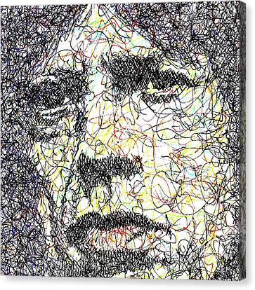 Mick Jagger Poster Canvas Print featuring the drawing Mick Jagger by Brian Keating