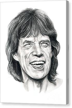 Mick Jagger Canvas Print by Murphy Elliott