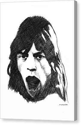 Mick Canvas Print by Michael Wicksted