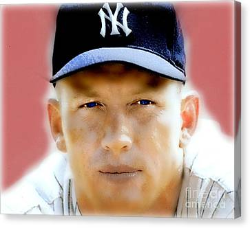 Mickey Mantle Canvas Print by Wbk