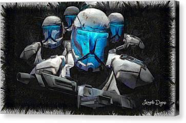 Mickey Mouse Stormtrooper Canvas Print by Leonardo Digenio