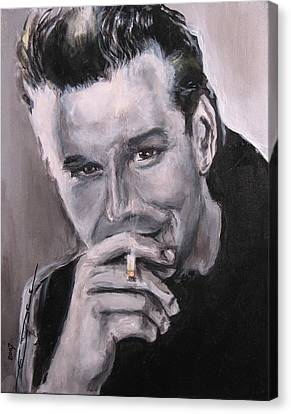 Mickey Rourke Canvas Print by Eric Dee