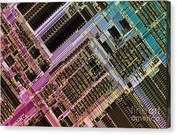 Microprocessors Canvas Print by Michael W. Davidson