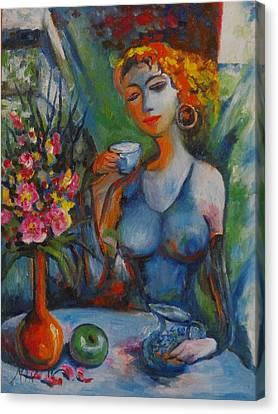 Midday Tea Canvas Print by Min Wang