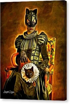 Middle Ages Catwoman - Da Canvas Print by Leonardo Digenio