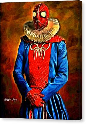 Middle Ages Spider Man Canvas Print by Leonardo Digenio