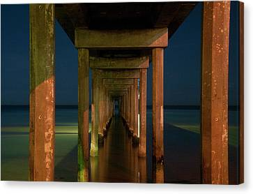 Midnight At Brighton Jetty Canvas Print by Andrew Dickman