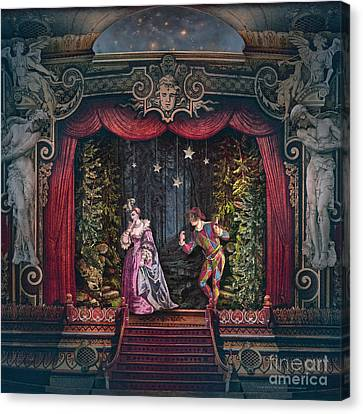 Midnight At La Fenice Canvas Print by Silas Toball