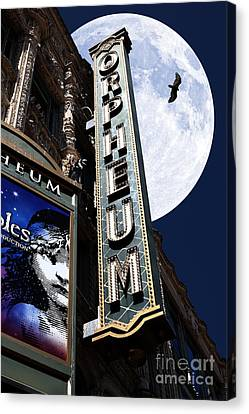 Midnight At The Orpheum - San Francisco California - 5d17991 Canvas Print by Wingsdomain Art and Photography
