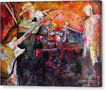 Midnight Ensemble Canvas Print by Shadia Derbyshire