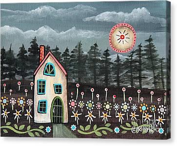 Midnight Garden Canvas Print by Karla Gerard