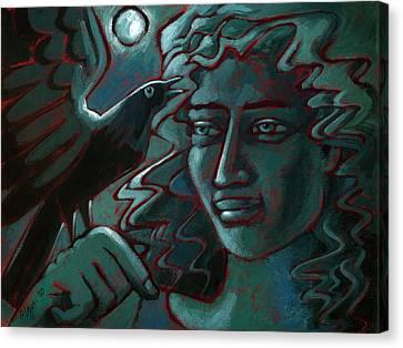 Midnight Message Canvas Print by Angela Treat Lyon