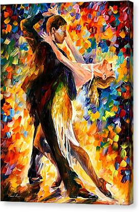 Midnight Tango Canvas Print by Leonid Afremov