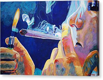Midnight Toker Canvas Print by Anita Toke