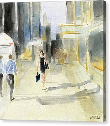 Midtown Light And Shadows Canvas Print by Beverly Brown