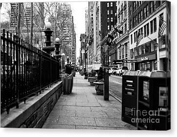 Midtown Sidewalk Canvas Print by John Rizzuto