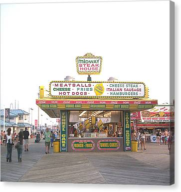 Midway Steak House - The Boardwalk At Seaside Canvas Print by Bob Palmisano