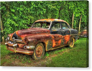 Mighty Mercury 1951 4 Door Sedan Canvas Print by Reid Callaway