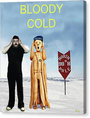 Mike Bloody Cold Canvas Print by Eric Kempson