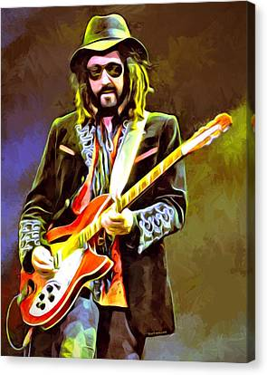 Mike Campbell Portrait Canvas Print by Scott Wallace