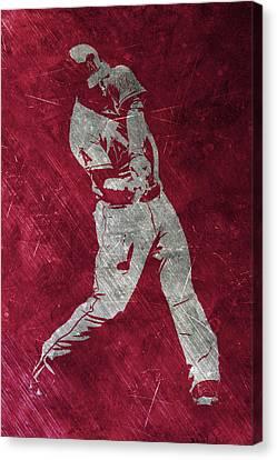 Mike Trout Los Angeles Angels Art Canvas Print by Joe Hamilton