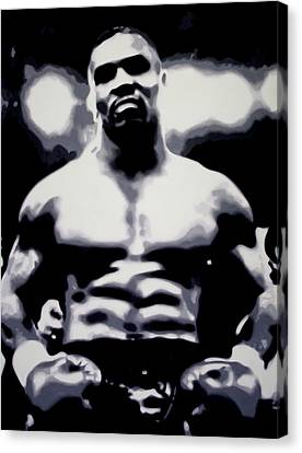 Mike Tyson Canvas Print by Luis Ludzska