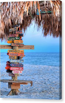 Mileage To Paradise  Canvas Print by JC Findley