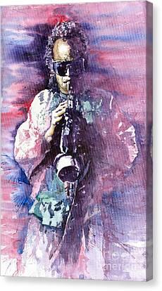 Miles Davis Meditation 2 Canvas Print by Yuriy  Shevchuk