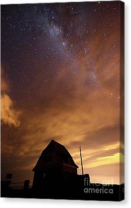 Milky Way Above Old Ski Hut At Mt Chacaltaya 1 Canvas Print by James Brunker