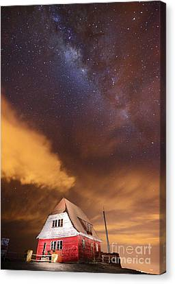 Milky Way Above Old Ski Hut At Mt Chacaltaya 2 Canvas Print by James Brunker