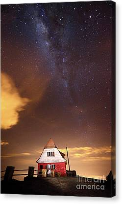 Milky Way Above Old Ski Hut At Mt Chacaltaya 3 Canvas Print by James Brunker