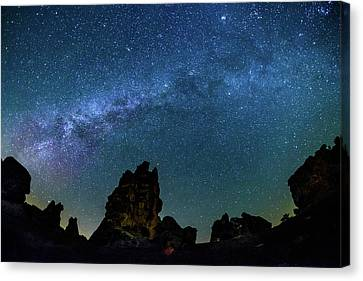 Milky Way At Phyrgia Canvas Print by Okan YILMAZ
