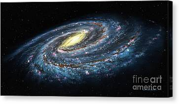 Milky Way Galaxy Oblique Canvas Print by Lynette Cook