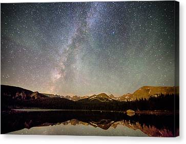 Milky Way Over The Colorado Indian Peaks Canvas Print by James BO  Insogna