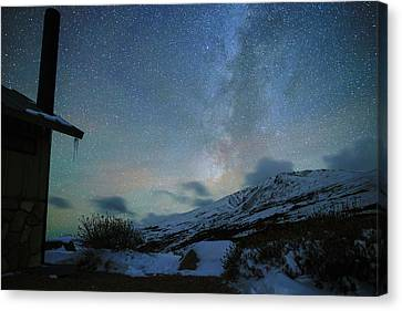 Milky Way With Airglow, Over Guanella Pass Canvas Print by Daniel Lowe