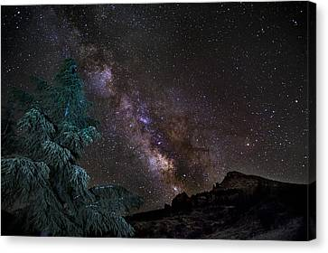 Milkyway At The Mountains Canvas Print by Guido Montanes Castillo