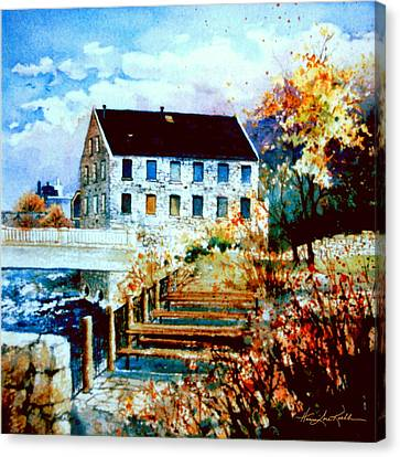 Mill Race Park Canvas Print by Hanne Lore Koehler