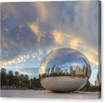 Millennium Park In The Morning Canvas Print by Twenty Two North Photography