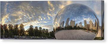 Millennium Park Reflection Canvas Print by Twenty Two North Photography