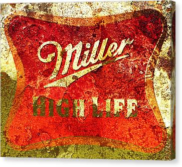 Miller High Life Canvas Print by Brian Reaves