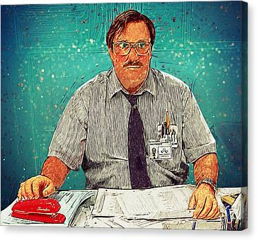 Milton - Office Space Canvas Print by Taylan Soyturk