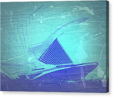 Milwaukee Art Museum Canvas Print by Naxart Studio