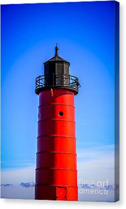Milwaukee Pierhead Lighthouse Photo In Wisconsin Canvas Print by Paul Velgos