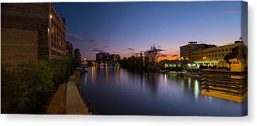Milwaukee Riverwalk Canvas Print by Steve Gadomski