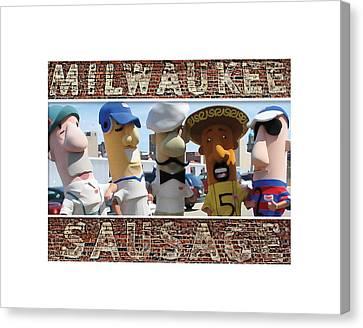 Milwaukee Sausages Canvas Print by Geoff Strehlow