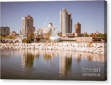 Milwaukee Skyline Picture Canvas Print by Paul Velgos
