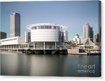 Milwaukee Skyline With Discovery World Picture Canvas Print by Paul Velgos
